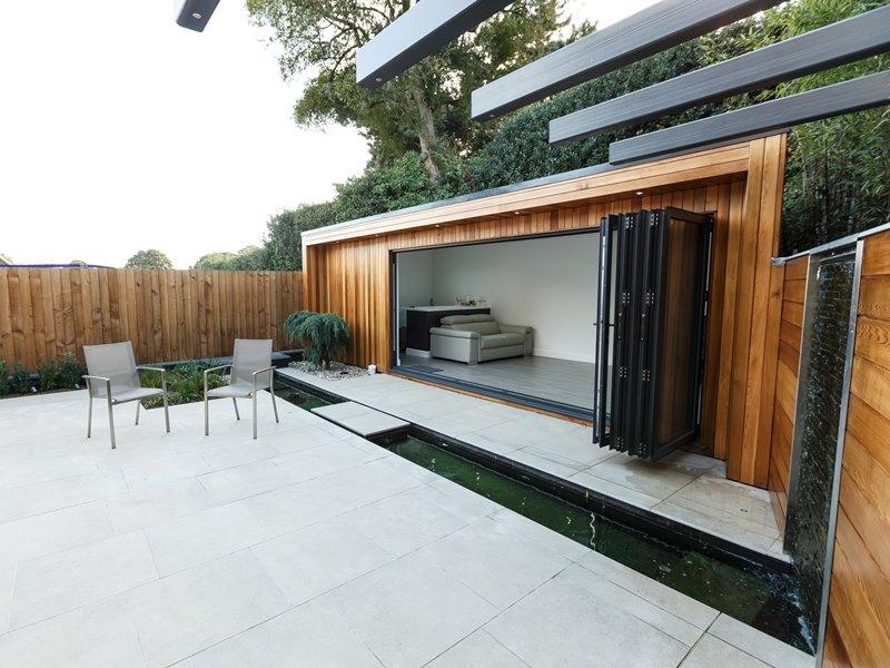 Western Red Cedar cladding - garden office