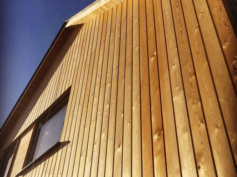 Brown Wooden Cladding ~ Siberian larch cladding millworks