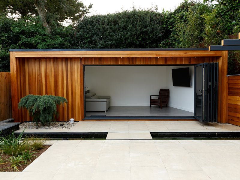 Western Red Cedar cladding - garden office
